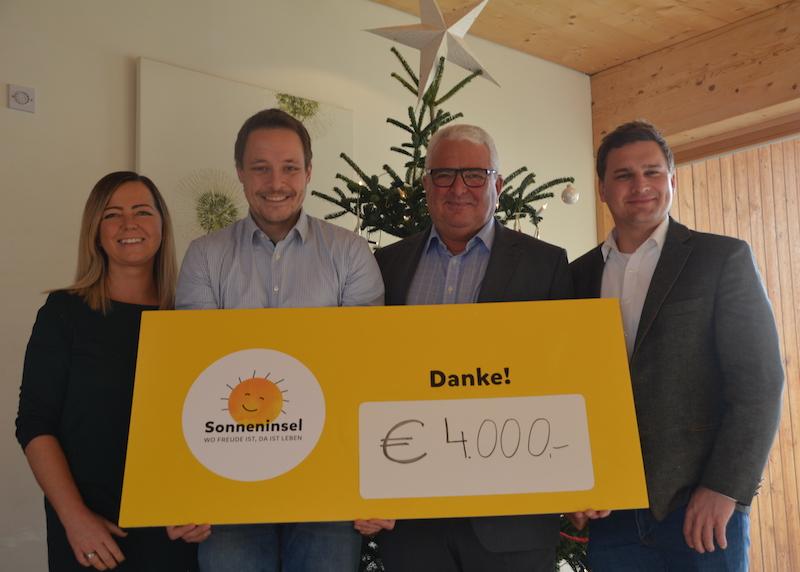 Transporte Rainer GmbH Straßwalchen spendet an die Sonneninsel Seekirchen